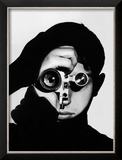 Photographer Dennis Stock Holding Camera to His Face
