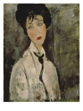 Woman with Black Tie  1917