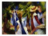 Girls under Trees  1914
