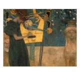 Musique (1895) Reproduction d'art par Gustav Klimt