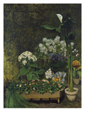 Still-Life with Flowers (Arum and Green House Plants)  1864
