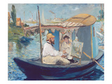 The Boat  (Claude Monet in His Floating Studio)  1874