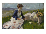 Two Women on a Hill (Maria Marc and Marie Schnuer)  1906