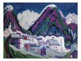 Dorf Monstein Bei Davos  1927
