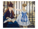 Woman and Girl at St Lazare Train Station  1873