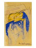 Der Traumfelsen  1913 Auf Postkarte an Else Lasker-Schueler