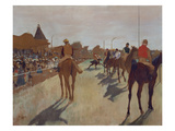 The Parade  or Race Horses in Front of the Stands  about 1866/68