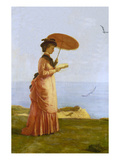 Lady with Parasol Reading  Isle of Wight (Emily Prinsep)