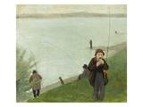 Fishermen at the Rhine River  1905