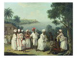 Natives Dancing in the Island of Dominica  Fort Young Beyond