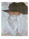 Woman with Black Feather Hat  1910