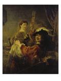 Selbstbildnis Mit Saskia  um 1635