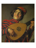 A Jester Playing the Lute  1625