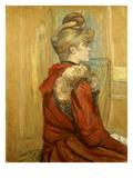 Girl in a Fur  Miss Jeanne Fountain  1891