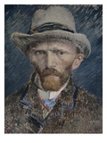Self Portrait with Grey Felt Hat  1887