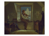 The Violinist at the Window  about 1860