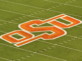 Oklahoma State University: OSU Logo on the Field at Boone Pickens Stadium