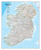 National Geographic - Ireland Classic Map Laminated Poster