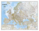National Geographic - Europe Classic Map  Enlarged & Laminated Poster