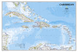 National Geographic - Caribbean Classic Map Laminated Poster