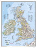 National Geographic - Britain and Ireland Classic Map Laminated Poster