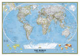 National Geographic - World Classic Map Laminated Poster