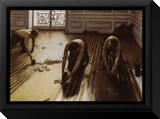 Les raboteurs de parquet Tableau sur toile encadré par Gustave Caillebotte