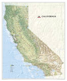National Geographic - California Map Laminated Poster