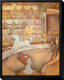 Cirque Tableau sur toile encadré par Georges Seurat