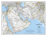 National Geographic - Middle East Map Laminated Poster