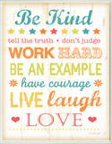 Be Kind Tell The Truth Typography Rectangle