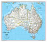 National Geographic - Australia Classic Map Laminated Poster