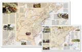 National Geographic - Battles of the Revolutionary War and War of 1812 Map  Two-Sided Laminated Pos