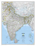National Geographic - India Classic Map Laminated Poster