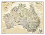 National Geographic - Australia Executive Map Laminated Poster