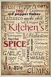 Kitchen and Spice Words Typography Rectangle