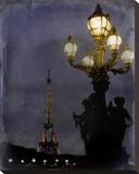 Eiffel at Night Tableau sur toile par Karen J. Williams