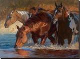 Four Across Tableau sur toile par Karen Bonnie