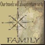 Travels Lead Back to Family Tableau sur toile par Karen J. Williams
