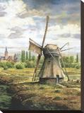Moulin à vent de Brouwers Tableau sur toile par Francis Mastrangelo