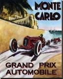 Monte Carlo, Grand Prix Tableau sur toile par Chris Flanagan