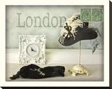 Chapeau de Londres Tableau sur toile par Judy Mandolf