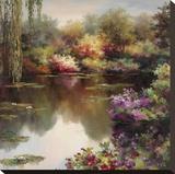 Reflections Of A Lily Pond Tableau sur toile par Budian
