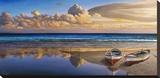 Barche sulla battigia Tableau sur toile par Adriano Galasso