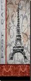 Paris Postcard Panel Tableau sur toile par Karen J. Williams