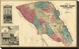 Map of Sonoma County California  c1877