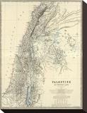 Palestine, c.1861 Tableau sur toile par Alexander Keith Johnston