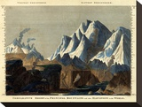 Comparative Height of the Principal Mountains in the World  c1823