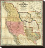 New Map of Texas  Oregon and California  c1846