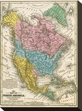 Map of North America  c1839